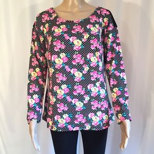 Betsey Johnson Long sleeve Pullover Top